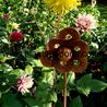 6 petal flower plant Stake Pack of 3 1.21m high A0078